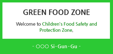 Green Food Zone Sign